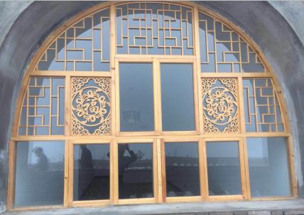 圆弧形仿古门窗