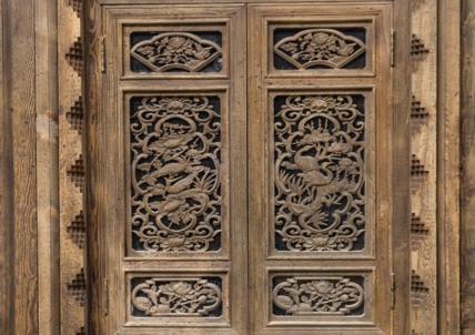 条屏仿古木雕
